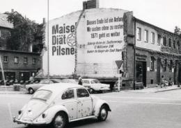 """Die Gaststätte """"Am Schlachthof"""" fiel der Spitzhacke zum Opfer. Foto: Archiv Bernd Mayer."""