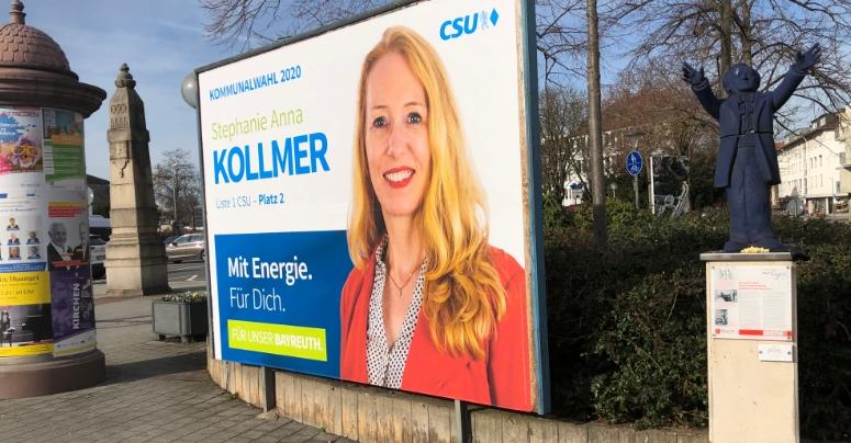 Anna Kollmer im Bayreuther Stadtrat. Foto: privat