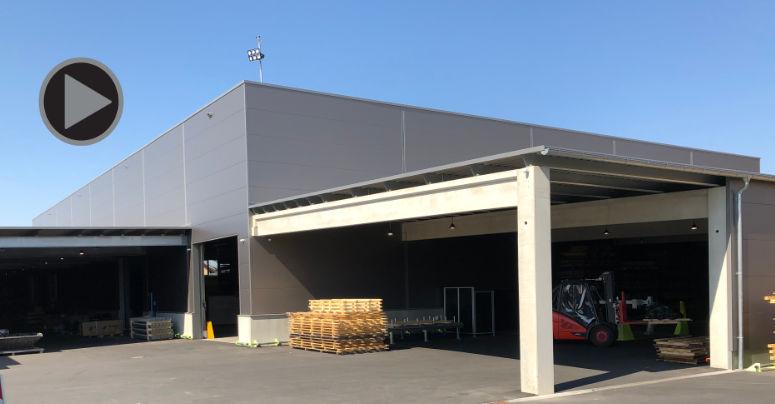 Bau einer neuen Fertigungshalle. Foto: hbk