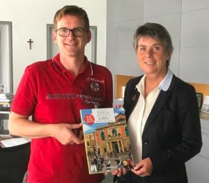 Jürgen Reichert mit Oberbürgermeisterin Brigitte Merk-Erbe