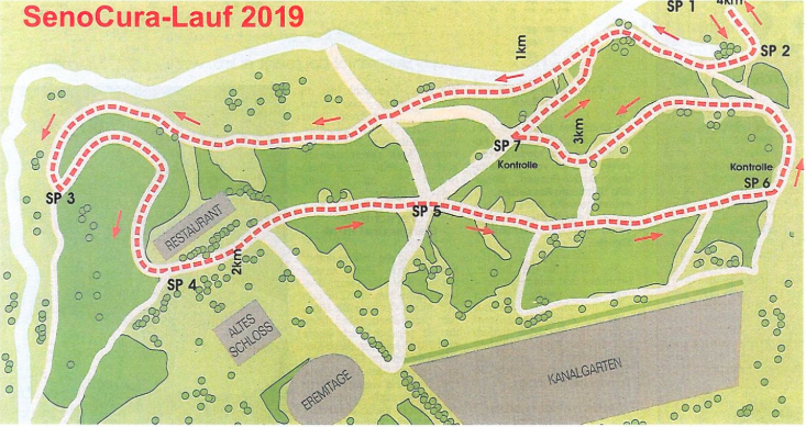 Streckenverlauf Senocura 2019