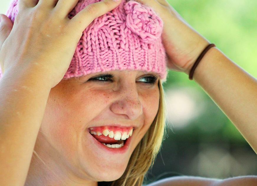 Mädchen-lacht