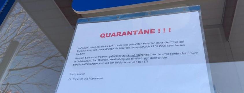 Coronavirus im Kreis Bayreuth. Kindergarten und Arztpraxis wurden geschlossen.