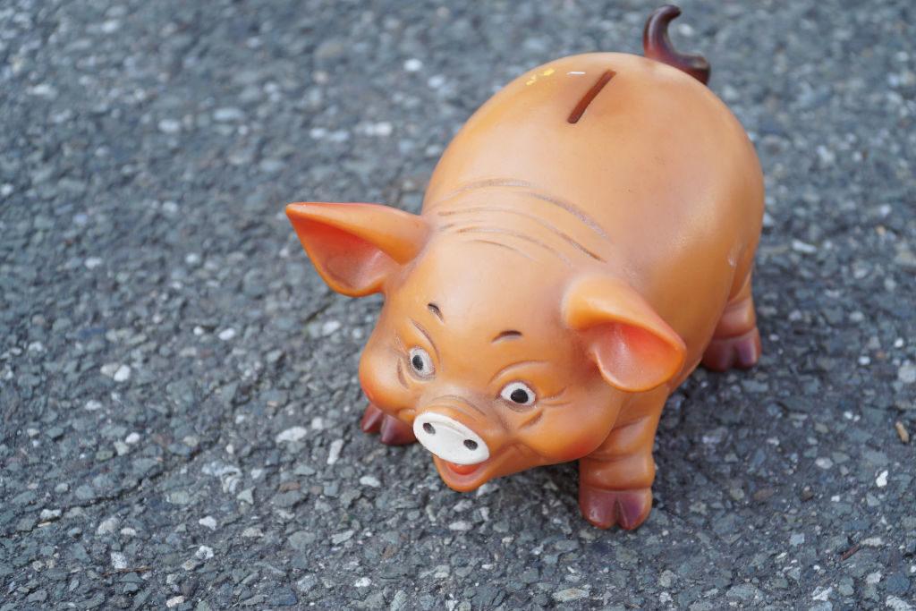 Sparschwein aus Gummi