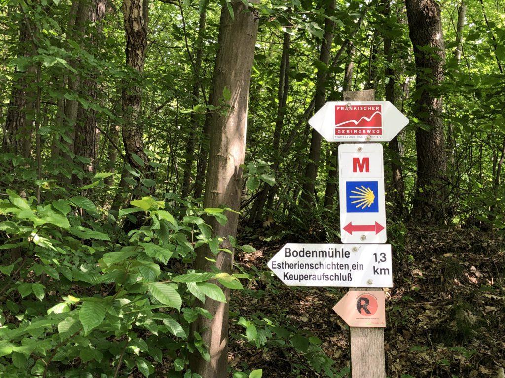 Schild zum Geotop Bodenmühlwand