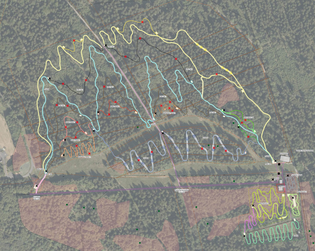 Interaktiver Mountainbike-Park mit Lernparcours