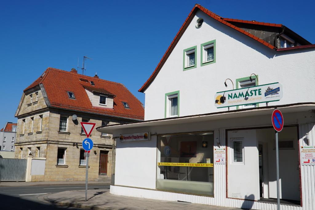 Der Lieferdienst Namaste in der Erlanger Straße.