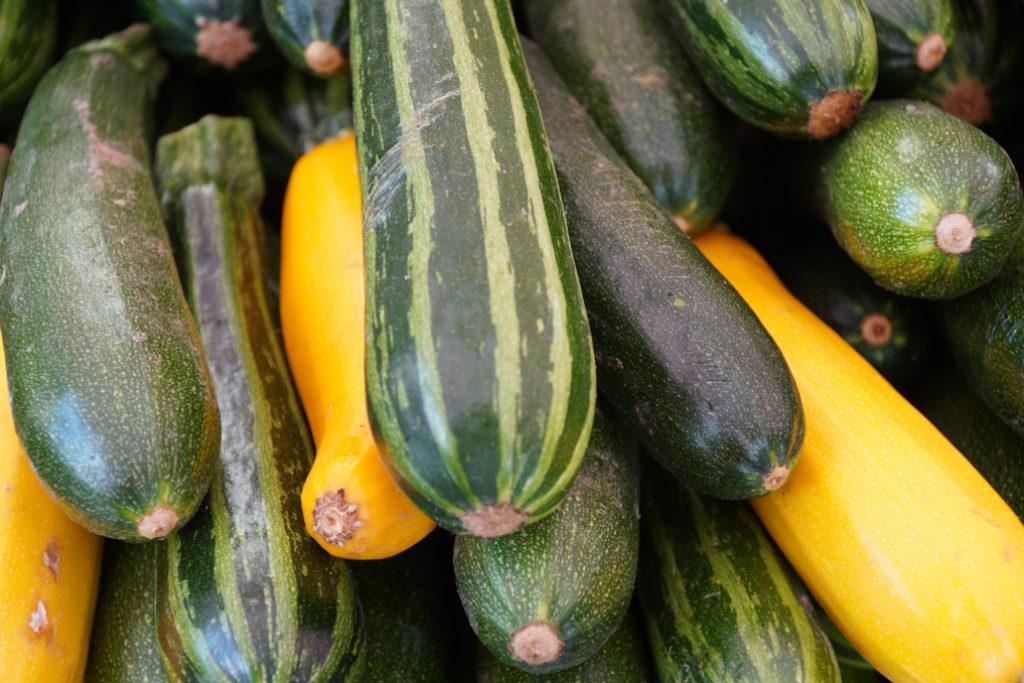 drei verschiedene Sorten Zucchini