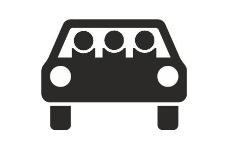 Sinnbild mehrfachbesetzte Personenkraftwagen