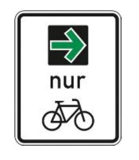 Verkehrszeichen Grünpfeil für Radfahrer