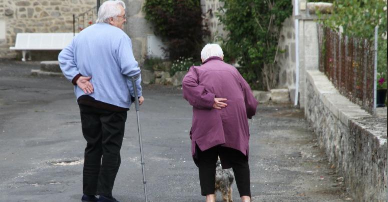 Zwei Senioren gehen spazieren. Symbolbild: Pixabay
