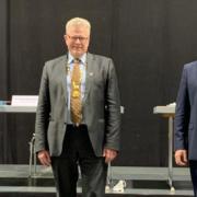 Die neuen Bürgermeister in Bayreuth: (v.l.n.r.) Bayreuths zweiter Bürgermeister Andreas Zippel (SPD), Oberbürgermeister Thomas Ebersberger (CSU) und Bayreuths dritter Bürgermeister Stefan Schuh (JB). Foto: Redaktion
