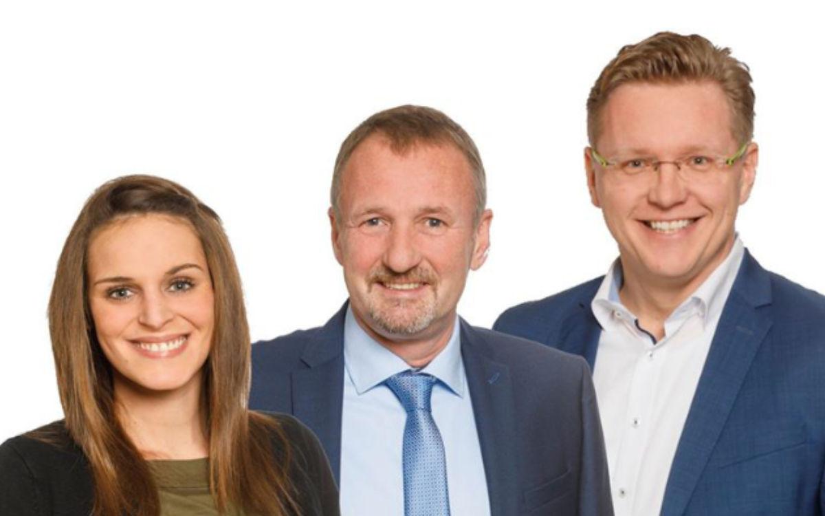 Der Fraktionsvorsitz der Bayreuther Gemeinschaft: Angelique Gareiß, Stephan Müller und Frank Hofmann. Fotomontage: BG