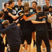 Jubel bei den HaSpo-Herren. Am Samstag (3.10.2020) starten die Herren der Handballer in die Dritte Liga. Archivfoto: Redaktion.