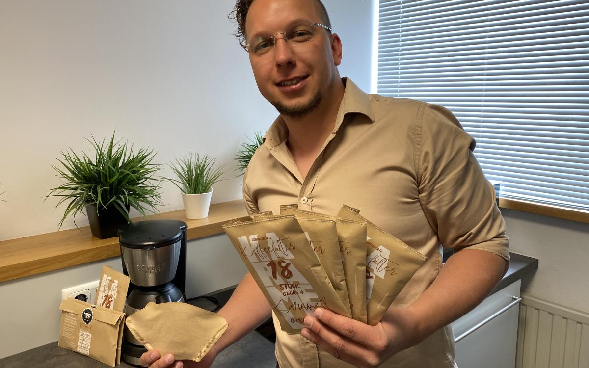 Carsten Detzer möchte den Filterkaffee revolutionieren – mit einen Aroma Filtern. Foto: Redaktion