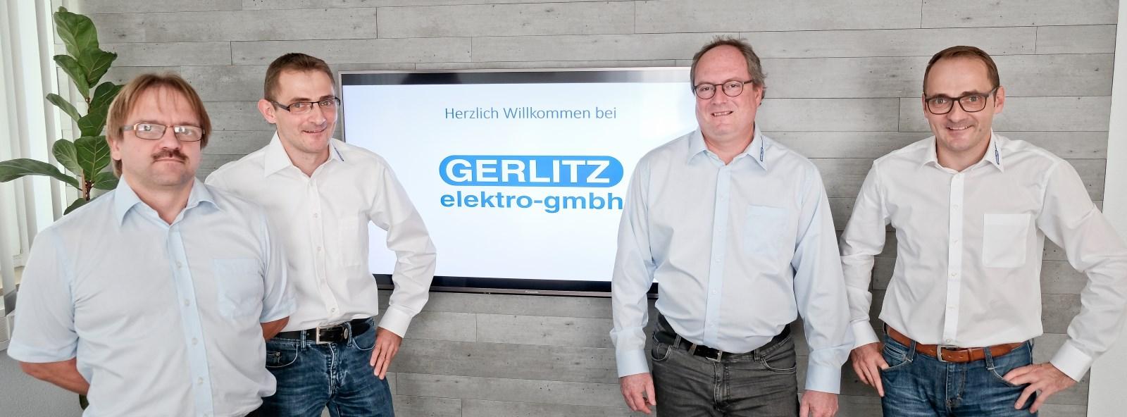 Die Geschäftsführer Hubert Nickl, Stefan Edler, Klaus Winkler und Sven Edler (v.l.n.r.). Foto: Gerlitz elektro gmbh