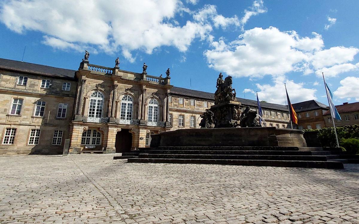 Das Neue Schloss in Bayreuth öffnet wieder. Foto: Neele Boderius