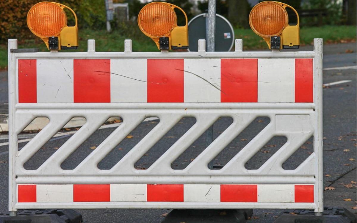 Wochenlang ist eine Straße in Bayreuth gesperrt. Symbolbild: pixabay