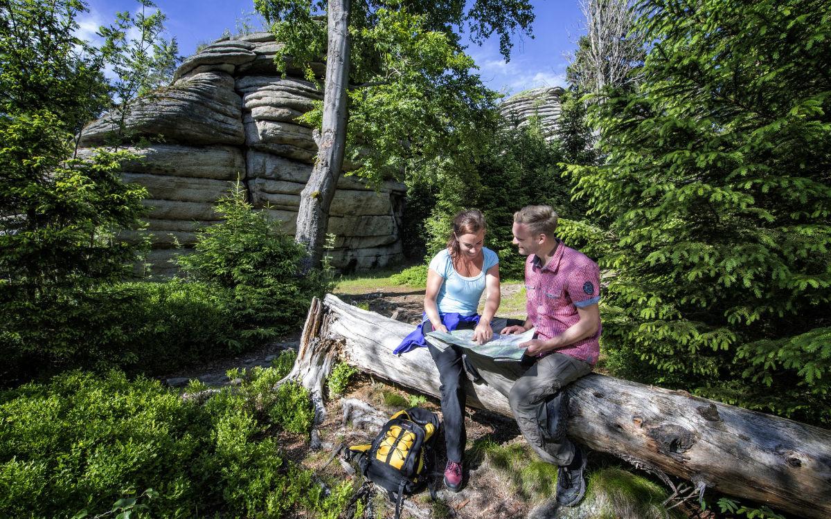 Rudolfstein: Wandern im Fichtelgebirge, Quelle: Tourismuszentrale Fichtelgebirge/F. Trikowski