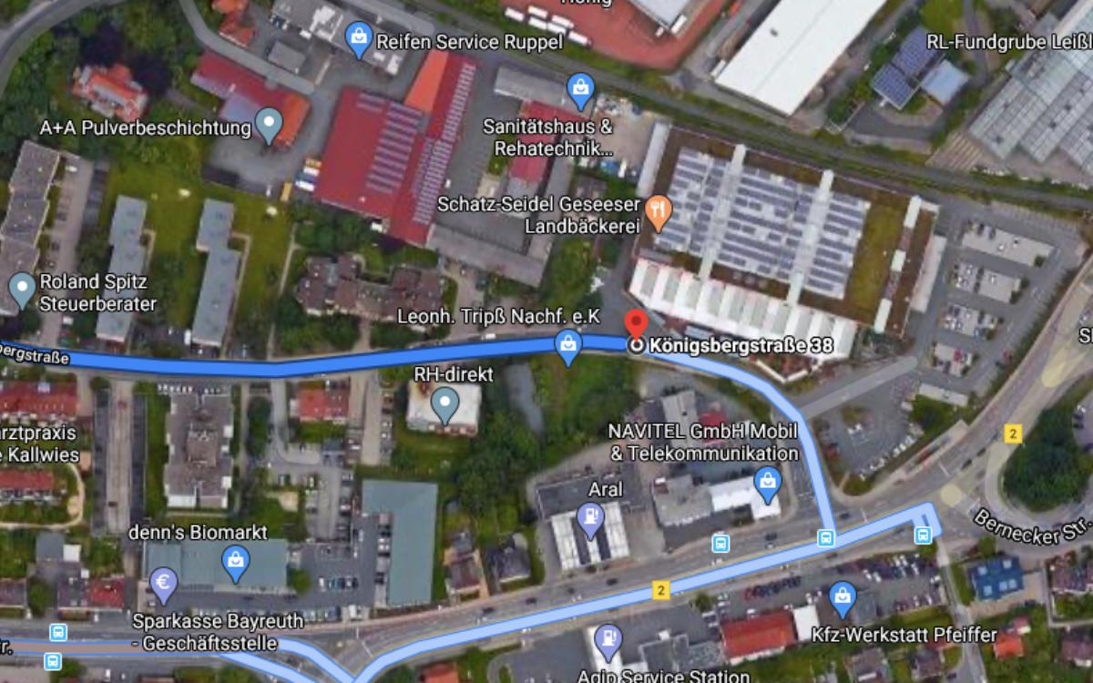 In der Königsbergstraße haben es viele Baumärkte erfolglos versucht. Nun schafft die Stadt die Voraussetzungen für andere Geschäfte. Foto: Googlemaps.