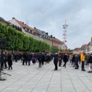 In Bayreuth haben Studenten eine Demonstration gegen Rassismus organisiert. Nun sind wieder zwei Kundgebungen angekündigt. Foto: Katharina Adler