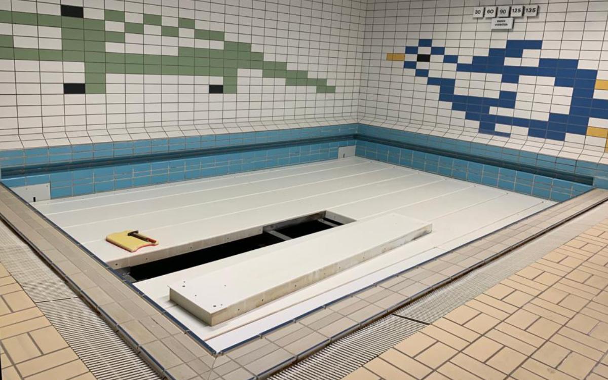 Die Becken im SVB-Bad sind momentan leer. Foto: Katharina Adler