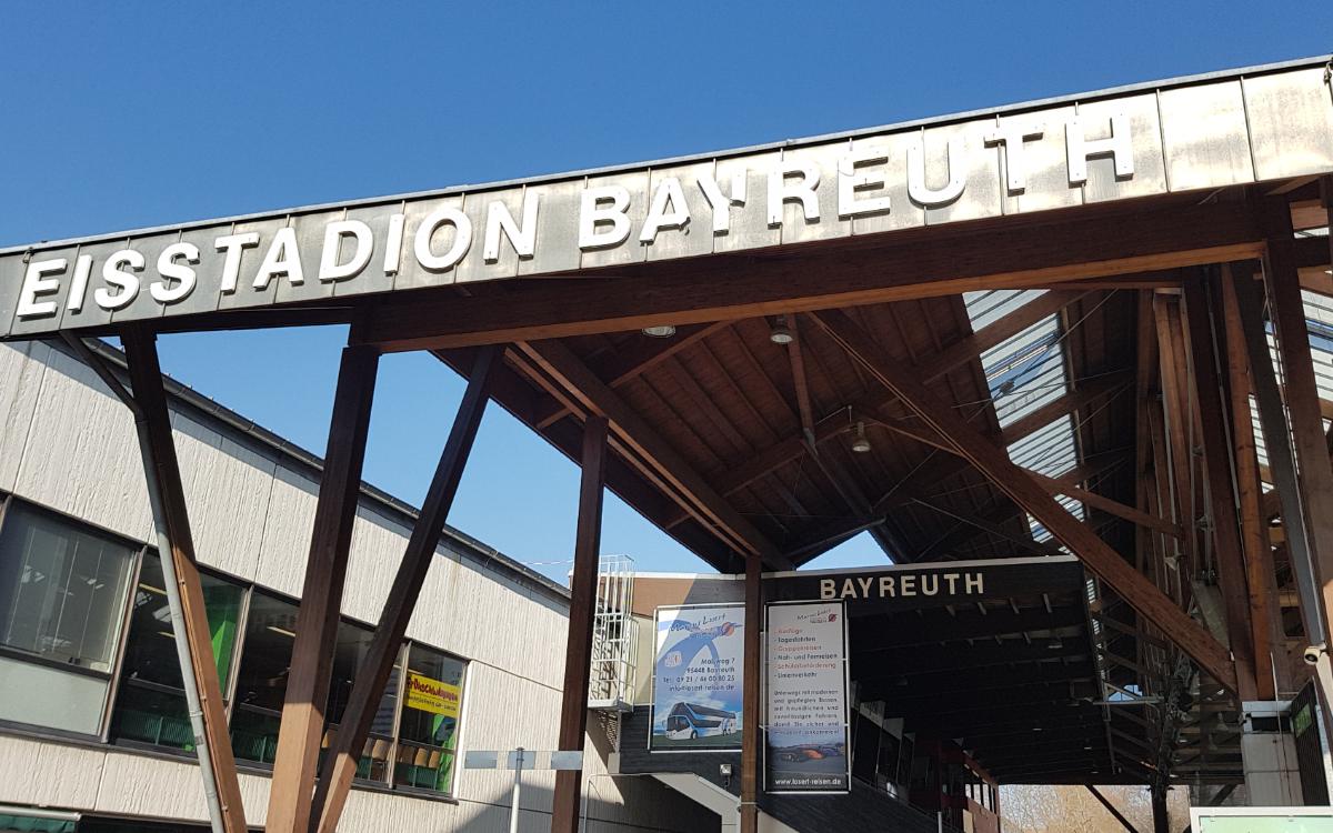 Das Eisstadion in Bayreuth: Wegen der Corona-Pandemie könnten hier bis September hier Wahlkampfveranstaltungen stattfinden. Archivfoto: Redaktion