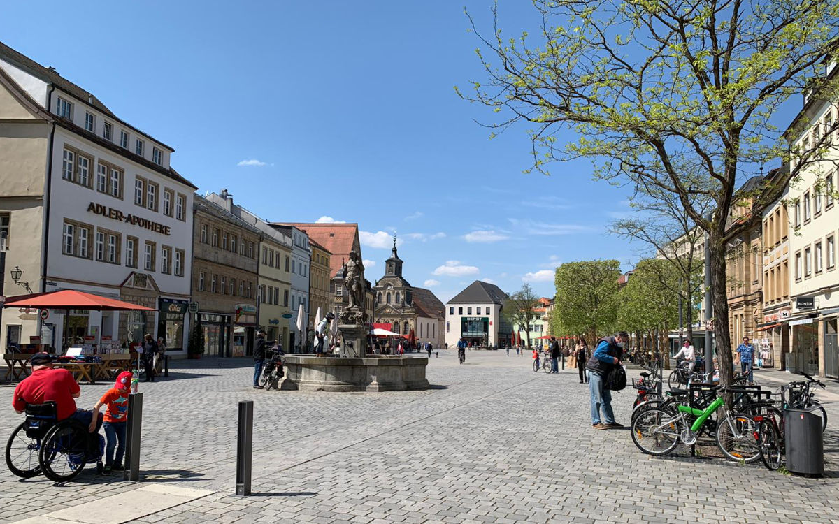 Die Maximilianstraße in Bayreuth. Foto: Katharina Adler