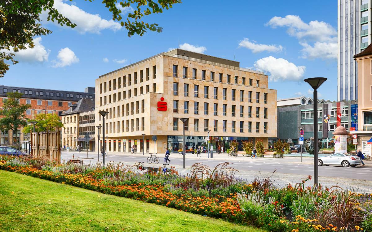 Kundenhaus der Sparkasse Bayreuth am Luitpoldplatz. Foto: Sparkasse Bayreuth