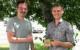 Johannes Thaufelder und Felix Häfner, die Gründer von Optimum Green, mit ihrem ökologischen Waschball. Foto: Susanne Monz