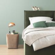 Harmonie für die Wand: Jadegrün bringt eine entspannte Atmosphäre in jeden Raum. Foto: djd/Schöner Wohnen Farbe