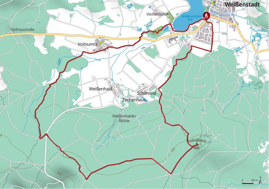 Karte zur Felsen-Quell-Tour Weißenstadt. Foto: TZ Fichtelgebirge