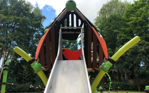Bayreuths neuer Spielplatz in der Peuntgasse. Foto: Frederik Eichstädt