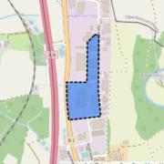 Das Gewerbegebiet Wolfsbach-Nord hat den Bauausschuss in Bayreuth beschäftigt. Foto: OpenStreetMap