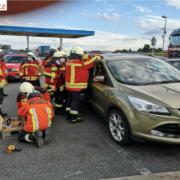 Die Feuerwehr Pegnitz musste ein Kind aus einem Auto befreien. Foto: Feuerwehr Pegnitz