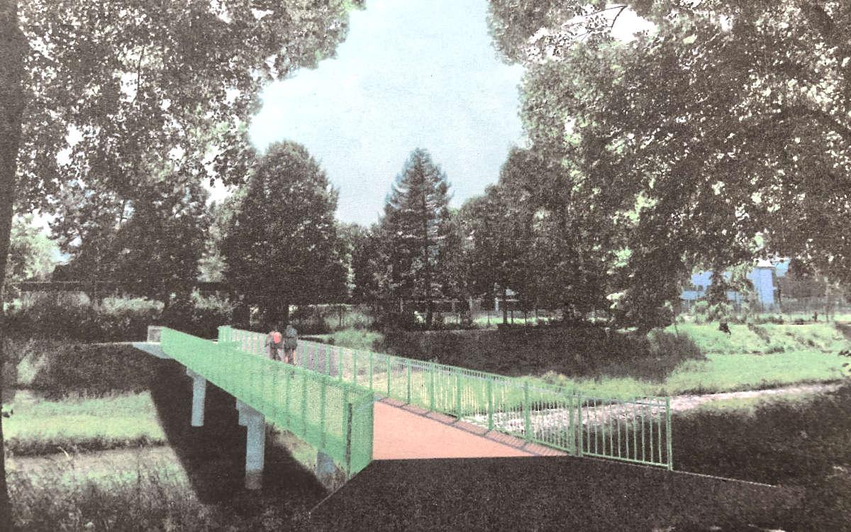So soll die neue Brücke am Sportpark aussehen. Foto: Stadt Bayreuth