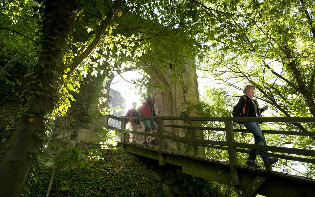 Burganlage bei Bad Berneck. Foto: A. Hub