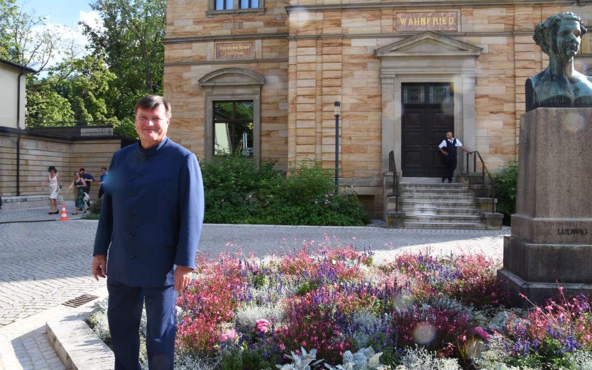 Dirigent Christian Thielemann beim Wagner Open Air an der Villa Wahnfried. Foto: Christoph Wiedemann