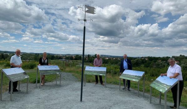 Das ist der Aussichtspunkt im ehemaligen Bayreuther Landesgartenschaugelände. Foto: Katharina Adler
