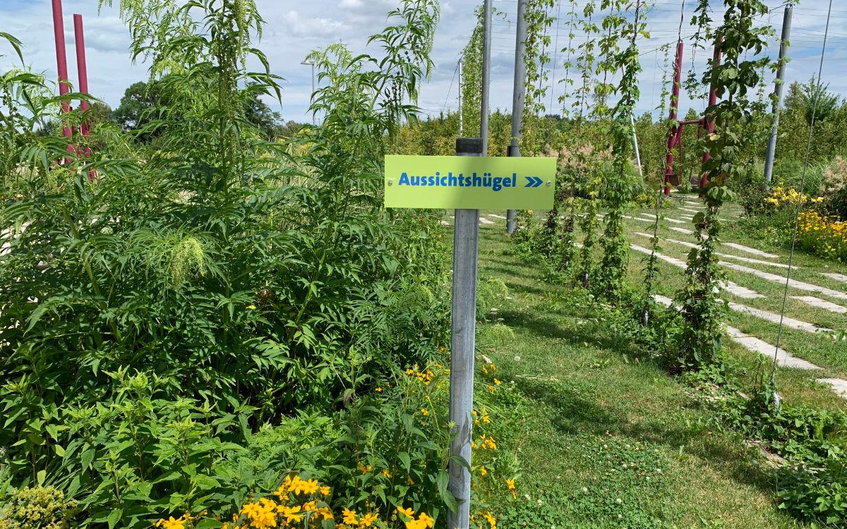 Zum Aussichtspunkt in Bayreuth weist dieses Schild. Foto: Katharina Adler