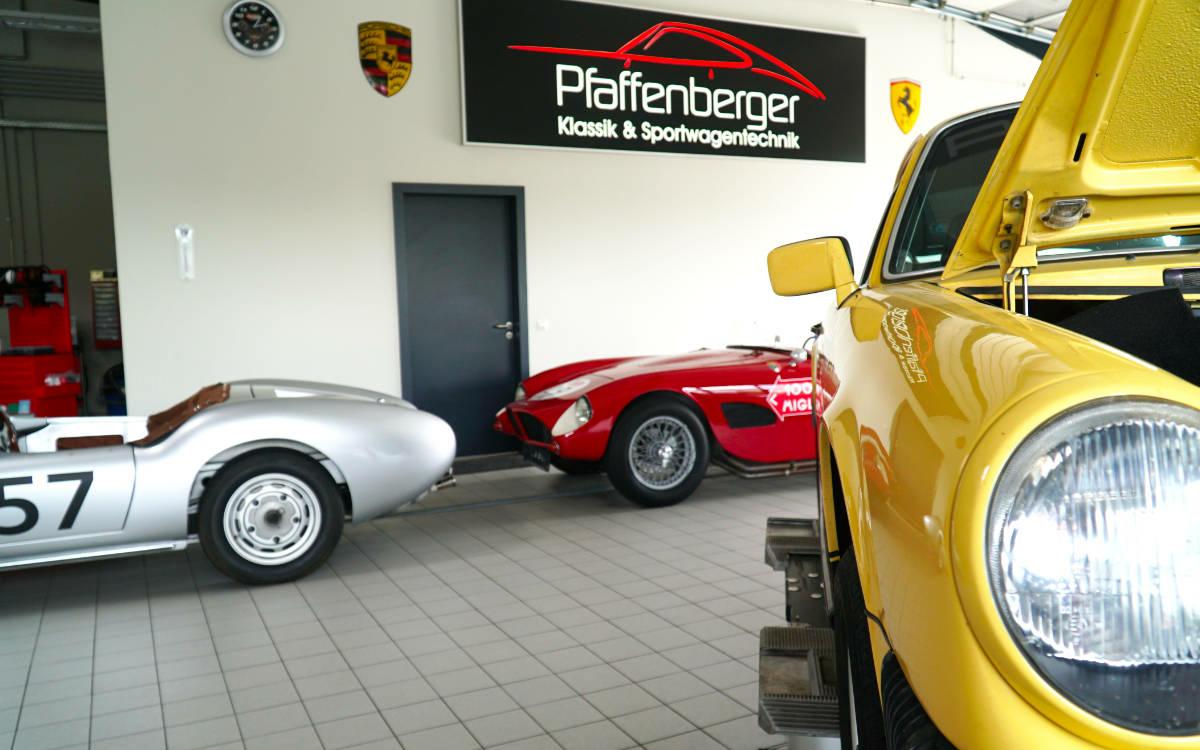 Pfaffenberger Klassik & Sportwagentechnik. Foto: Susanne Monz