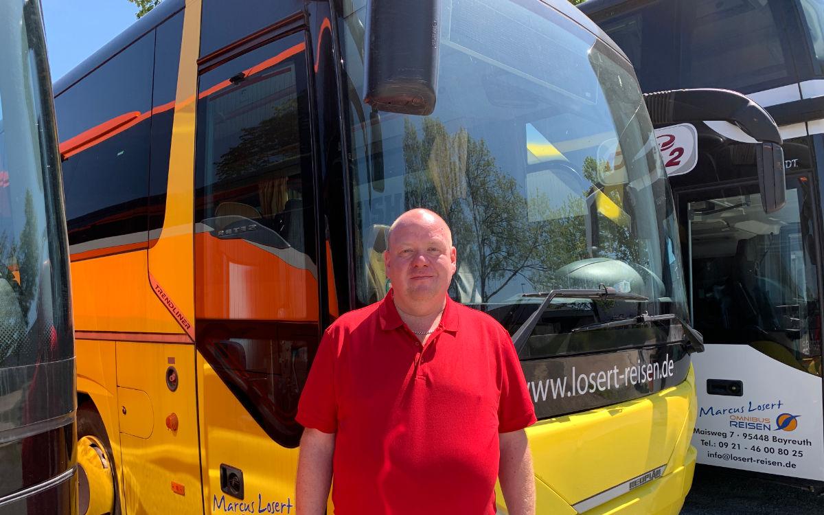 Marcus Losert ist Busunternehmer in Bayreuth. Foto: Katharina Adler