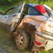 Schwerer Unfall in Oberfranken.Foto: Polizei