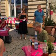 """Das Lesefestival """"Bayreuth blättert"""" hat dieses Jahr outdoor stattgefunden. Foto: Ricarda Schoop"""