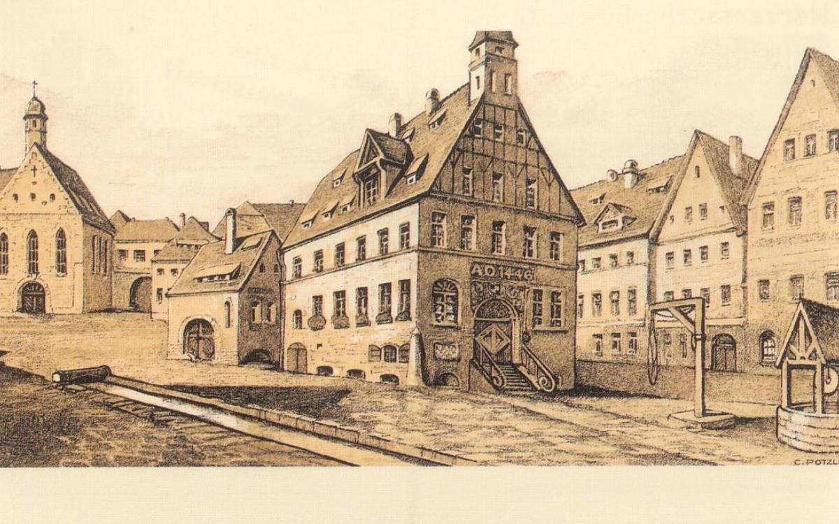 Das Alte Rathaus in Bayreuth fiel 1621 einem Stadtbrand zum Opfer. Repro: Stephan Müller