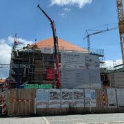 Die Stadthalle Bayreuth ist momentan noch eine Baustelle. Foto: Katharina Adler