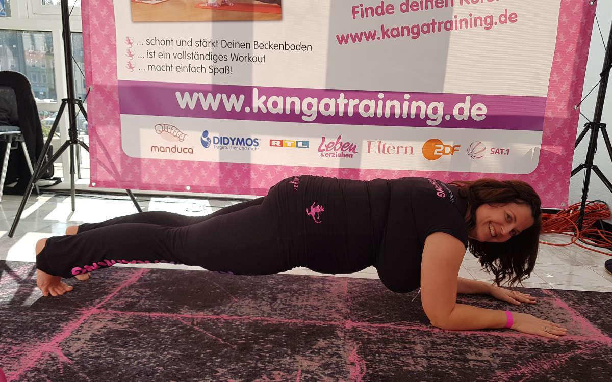 Die lizenzierte Kanga-Trainerin Kristina Chowanietz (29) aus Bayreuth. Foto: privat
