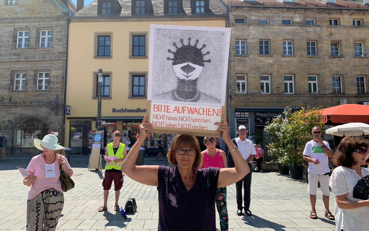 Am Freitag demonstriert die Bürgerbewegung 20plus1 in Bayreuth gegen die Corona-Beschränkungen. Foto: Katharina Adler