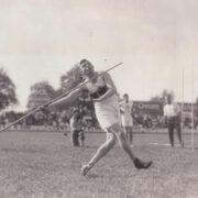 September 1929: Gottfried Weimann bei einem Leichtathletik-Wettbewerb in Basel. Foto: Archiv Stephan Müller / Familie Weimann