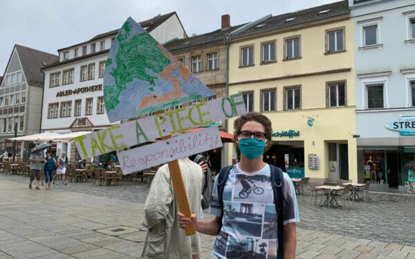 Die Aktivisten von Fridays For Future demonstrieren in Bayreuth. Am Freitag (25.9.2020) ist die Demo Teil eines globalen Klimastreiks. Archivfoto: Katharina Adler